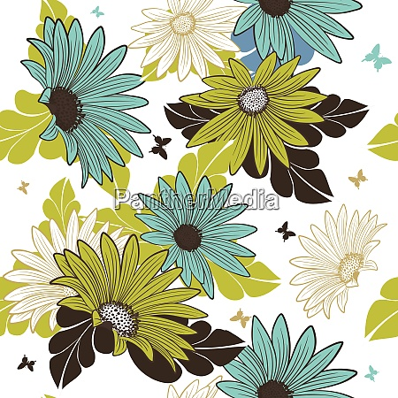 seamless floral pattern for easy making