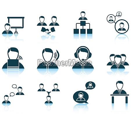 set of business people icon eps