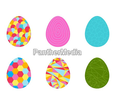 beautiful easter egg seamless pattern background