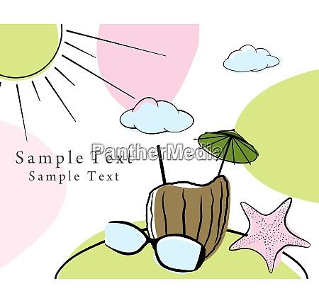 summer time doodle card eps 10