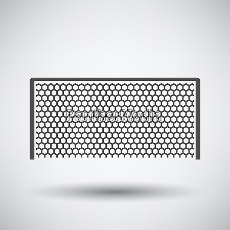 soccer gate icon on gray background