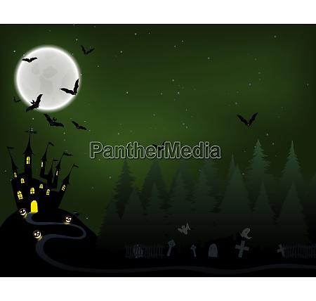 halloween greeting invitation card elegant