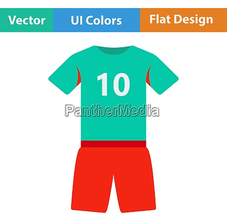 flat design icon of football uniform
