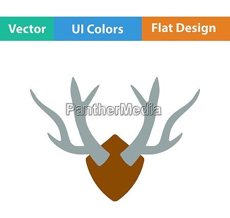 flat design icon of deerrsquos antlers