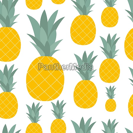 pineapple natural seamless pattern background vector