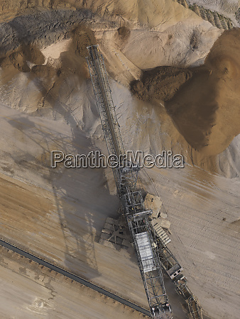 aerial view lignite mine gartzweiler north