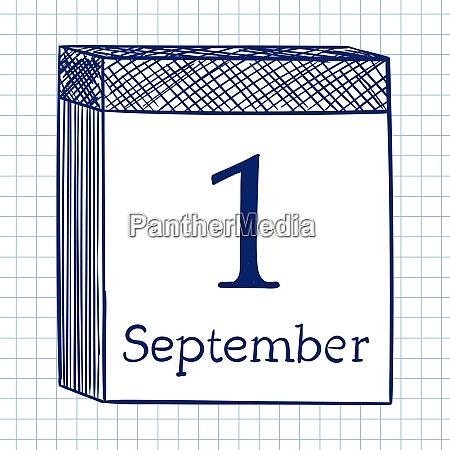 wand-kalender., doodle-skizze, auf, kariertem, papierhintergrund., vektor-illustration. - 26299316