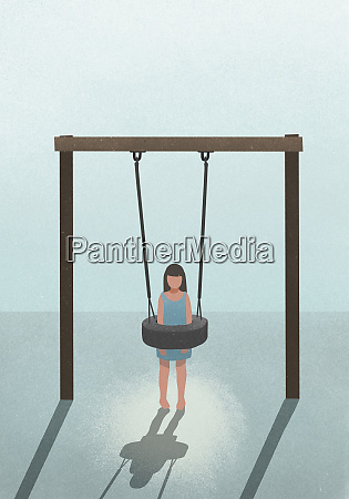 overweight girl stuck in tire swing