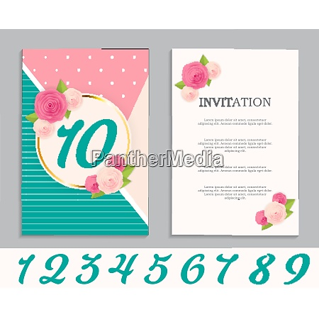 nature flower cute template set of