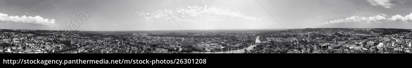 panoramablick, auf, ulm, baden-württemberg, deutschland - 26301208