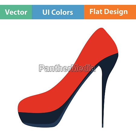 female shoe with high heel icon