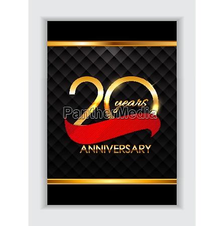 vorlage 20 jahre jubilaeums gratulation vector