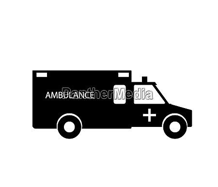 black and white emergency ambulance with