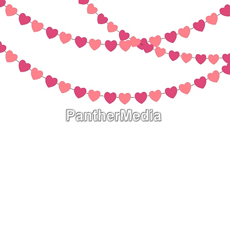 party background with heart confetti vector