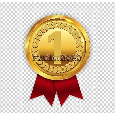 champion kunst goldene medaille mit roten