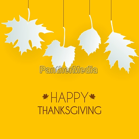 abstract vector illustration autumn happy thanksgiving