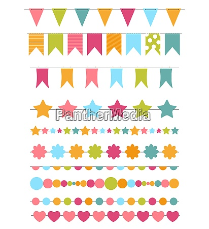party flags buntings brushes for