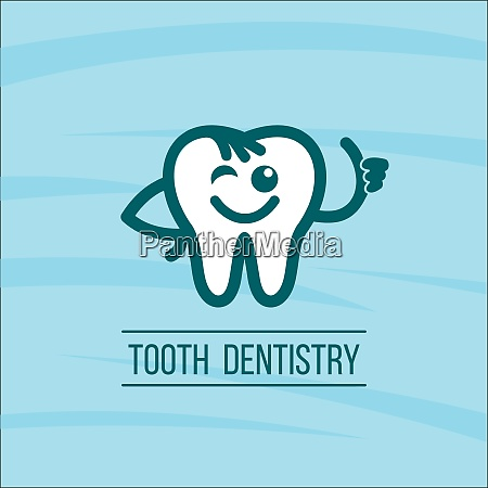 dentist tooth logo design template dental