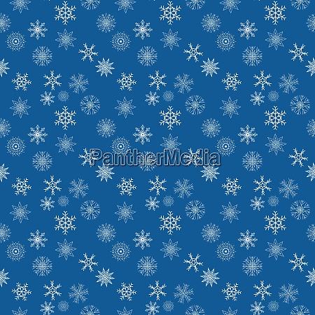christmas snowflakes seamless pattern background vector