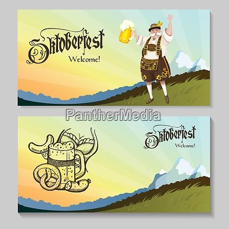 oktoberfest a set of posters a