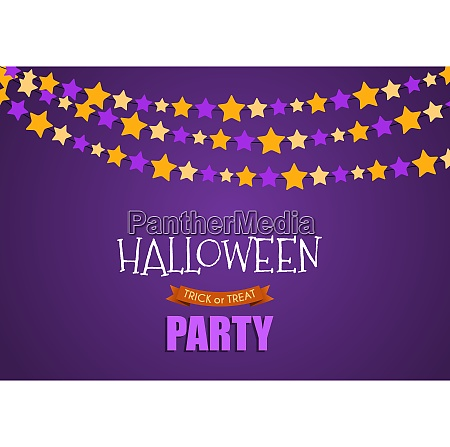 halloween party background template vector illustration