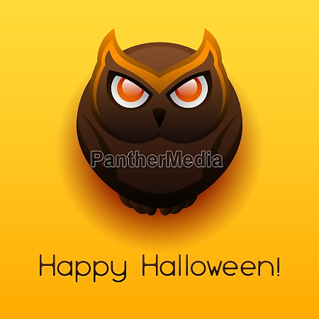happy halloween angry owl celebration party