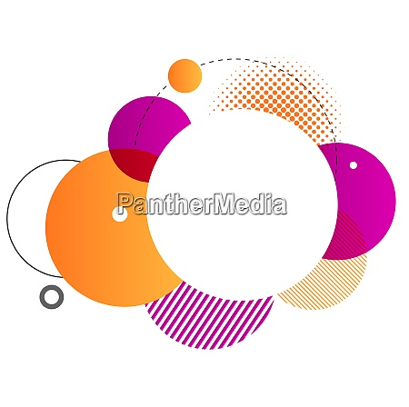 colorful geometric background vector round shapes