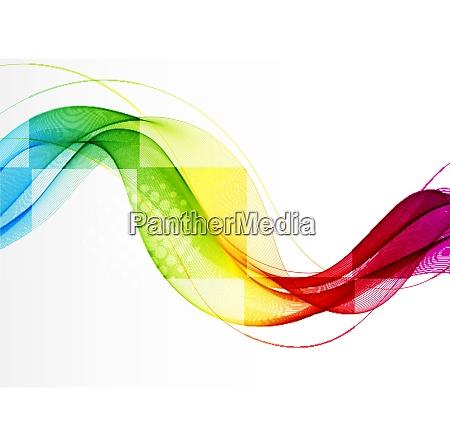 abstrakter vektorhintergrund mit glatter farbwelle transparente