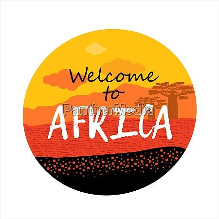 afrika willkommen in afrika rundes logo