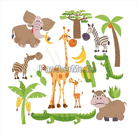 african cartoon animals africa african