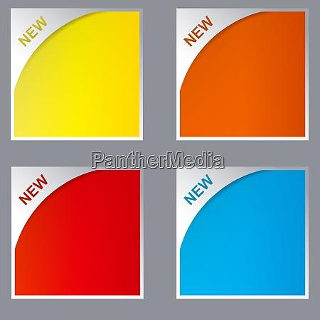 new labels vector illustration set