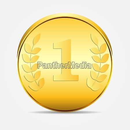 coin gold vector icon vector illustration