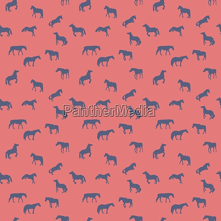 horse runs hops gallops isolated seamless