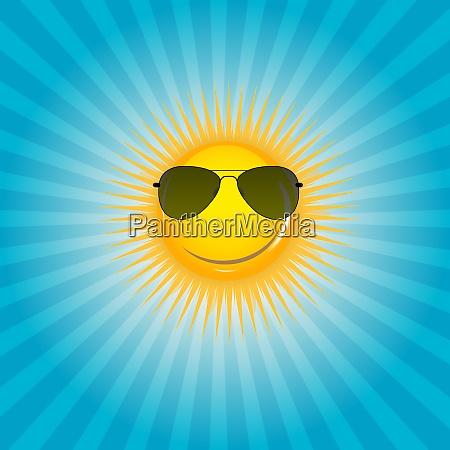 glueckliche sonnenhintergrund vektorillustration