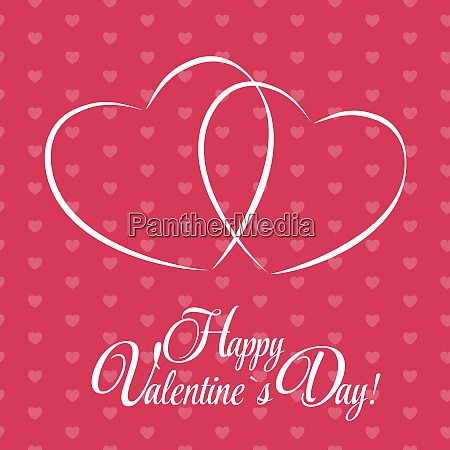 happy valentines day card with heart