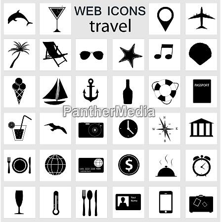 reisesymbole vektor illustration