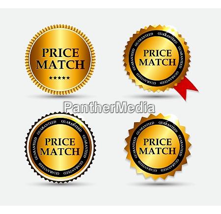 price match label set vector illustration