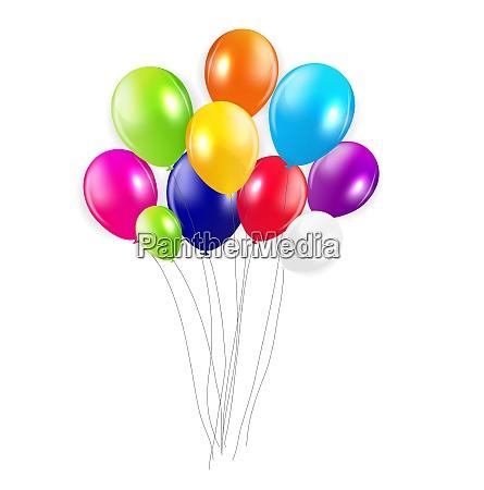 satz, von, farbigen, ballons, vektor-illustration., eps, 10. - 26328428