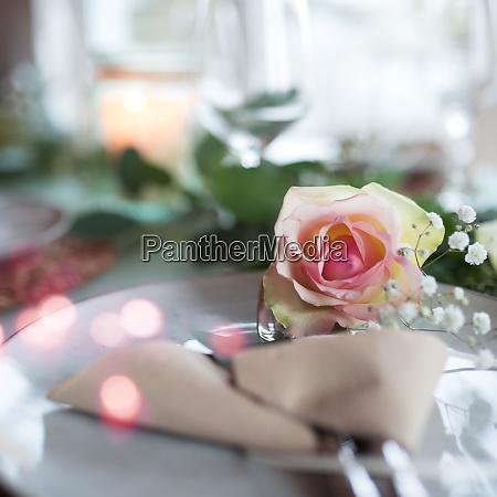 festive romantic place setting
