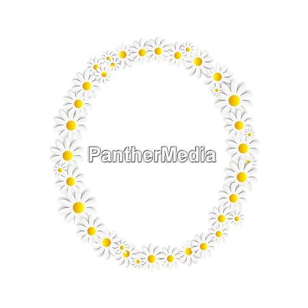 flora daisy design alphabet vektor illustartion