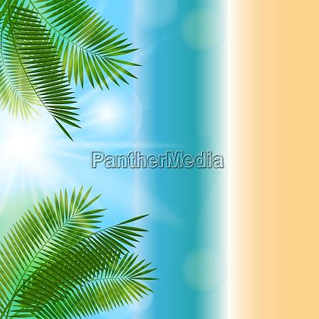 farbige sommer natuerliche hintergrund vektor illustration