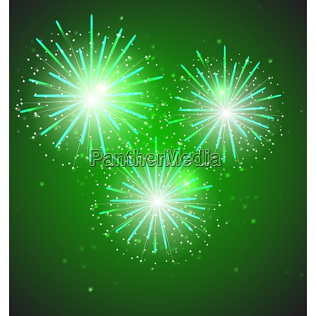 glossy fireworks on background vector illustration