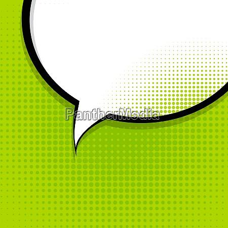 speech bubble pop art background on