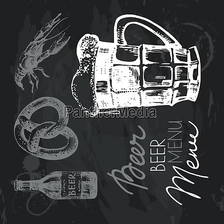 oktoberfest beer hand drawn chalkboard design