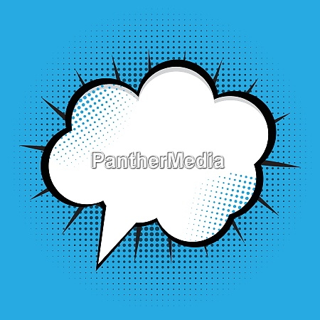 speech bubble pop art background on