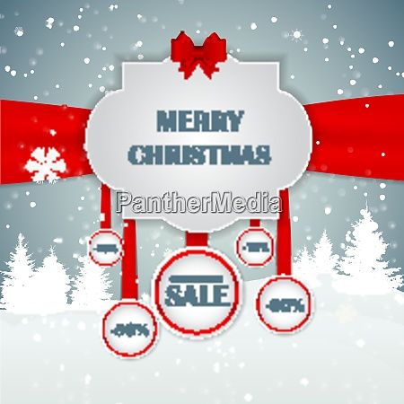 christmas sale concept background vector