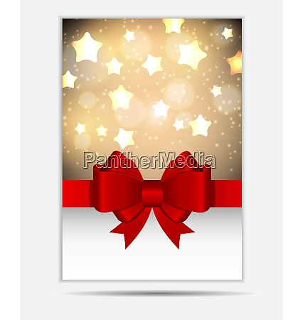 abstract glossy star background with bow