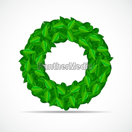 natural green leaves background vector illustration