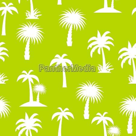 palm tree seamless pattern vector illustration