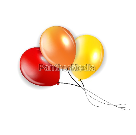 set of colored balloons illustration eps